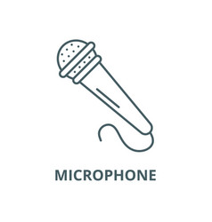 microphone line icon linear concept vector image