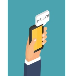 Mobile instant messenger chat 3d flat isometric vector image