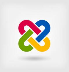 multicolor solomon knot vector image