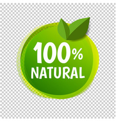 Natural label isolated transparent background vector