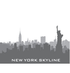 New york usa skyline american city silhouette vector