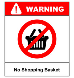 no shopping basket sign vector image