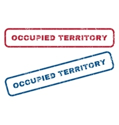 Occupied Territory Rubber Stamps vector