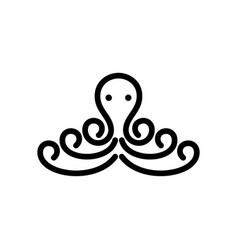 octopus simple logo design inspiration vector image