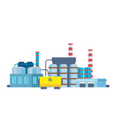 Oil producing plant with storage of production vector