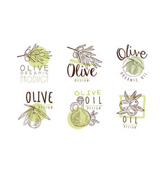 olive organic and natural product original design vector image