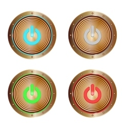 On buttons copper vector