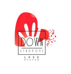Original down syndrome logo for medical or vector