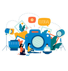 Photography classes photography courses vector