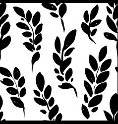 Plant brunches with leaves seamless pattern vector