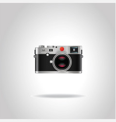 realistic vintage retro photo camera vector image