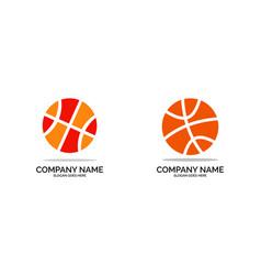 set of basketball logo design vector image