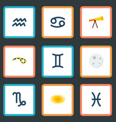 set of icons flat style symbols with cance vector image