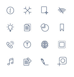 set with different ui icons vector image
