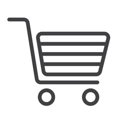 shopping line icon web and mobile store sign vector image