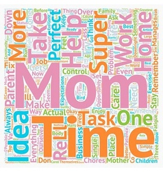 So you think you re a Super Mom text background vector