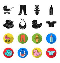 Socks bib toy duck raspashonkababy born set vector
