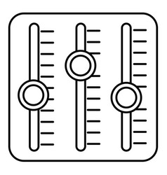 sound mixer icon outline style vector image