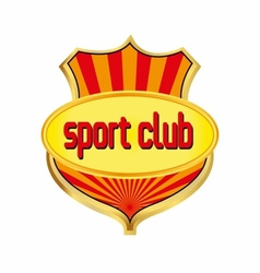 Sport club logo template vector image