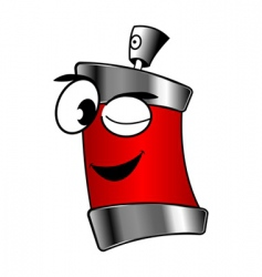 spray can cartoon vector image