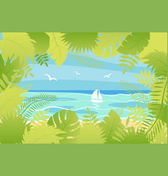 summer landscape in flat style vector image