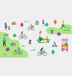 summer outdoor park activities vector image