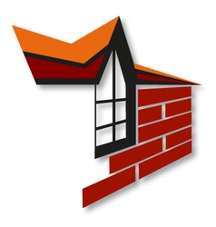 Symbol for the construction and sale of housing vector