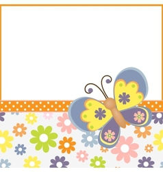 Template for spring easter postcard vector image