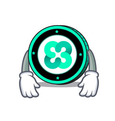 Tired ethos coin mascot cartoon vector
