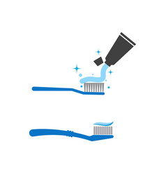 toothbrush icon design vector image