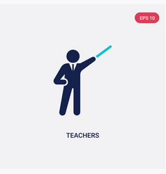 Two color teachers icon from humans concept vector