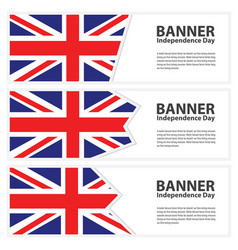 United kingdom flag banners collection vector
