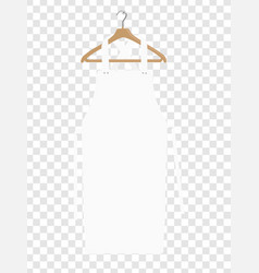 White kitchen apron chef uniform for cooking vector