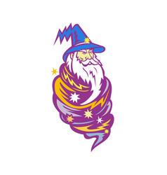 Wizard tornado mascot vector