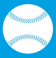 baseball icon white vector image vector image