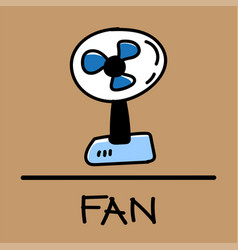 Fan hand-drawn style vector