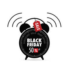 clock with black friday on it vector image vector image