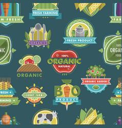 fresh healthy organic vegan food logo nature vector image vector image