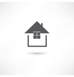 simple house symbol vector image vector image