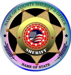 al 0217 sheriff badge vector image vector image