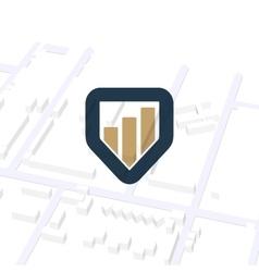Business navigator unusual logo Pointer vector image