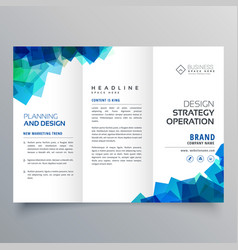 business trifold brochure layout template with vector image vector image