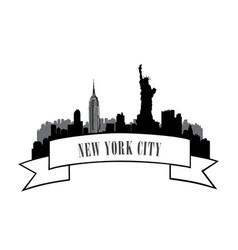 new york usa skyline american city travel landmark vector image