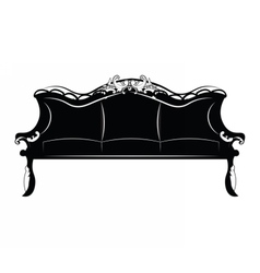 Royal luxury sofa furniture vector
