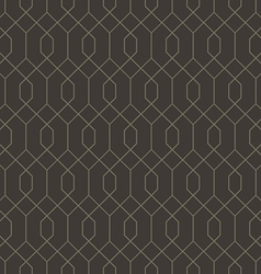 Abstract geometric line hexagon seamless pattern vector image vector image