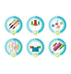 Icons of office tools vector image