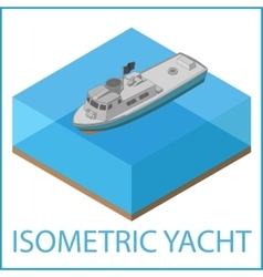 Motor Yacht flat Rowboat isometric vector image vector image