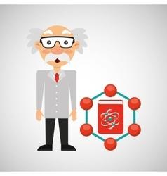 scientist chemistry concept atom design vector image
