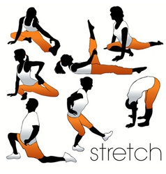 stretching people vector image