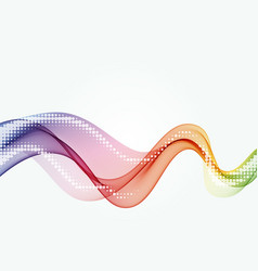 abstract color curved lines background vector image
